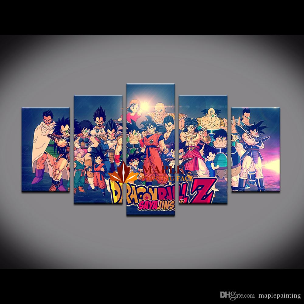 Large Wall Art Canvas Prints Painting Dragon Ball Picture For Kid'S Room Decoration custom canvas print photo modern bedroom wall painting