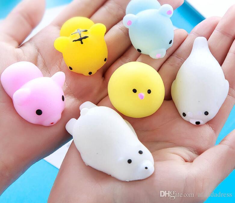 Squishy Animal Buns : Squishy Slow Rising Jumbo Toy Bun Toys Animals Cute Kawaii Squeeze Cartoon Toy Mini Squishies ...