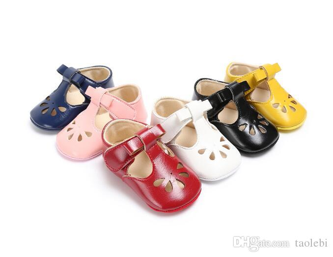 can mix colorsPU leather 2017 Newest style baby girl shoes Soft sole sweet baby princess shoes first walkers