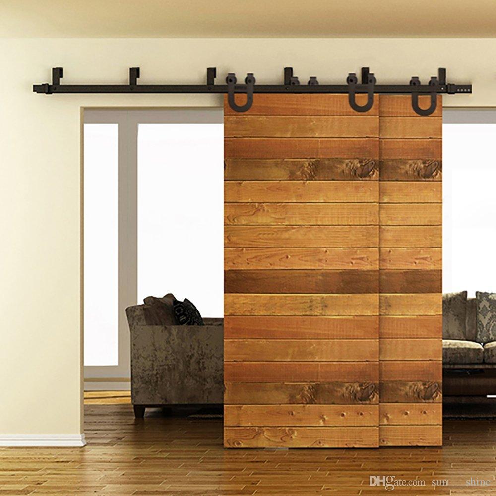 bypass improvement rustick barn door kit ebay wood sliding in black building hardware double garden track barns home pin