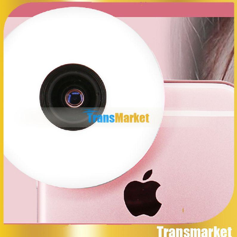 Universal Mobile Selfie Fill Light Tragbare LED-Blitzkamera Fotografie für Telefon + 6 in 1 Fisheye Weitwinkel-Mikrokamera LenUniversal Clip