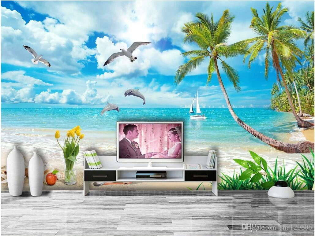 3d room wallpaper custom photo mural dolphin bay lovers hawaii 3d room wallpaper custom photo mural dolphin bay lovers hawaii mediterranean painting picture 3d wall murals wallpaper for walls 3 d movie wallpapers moving amipublicfo Images