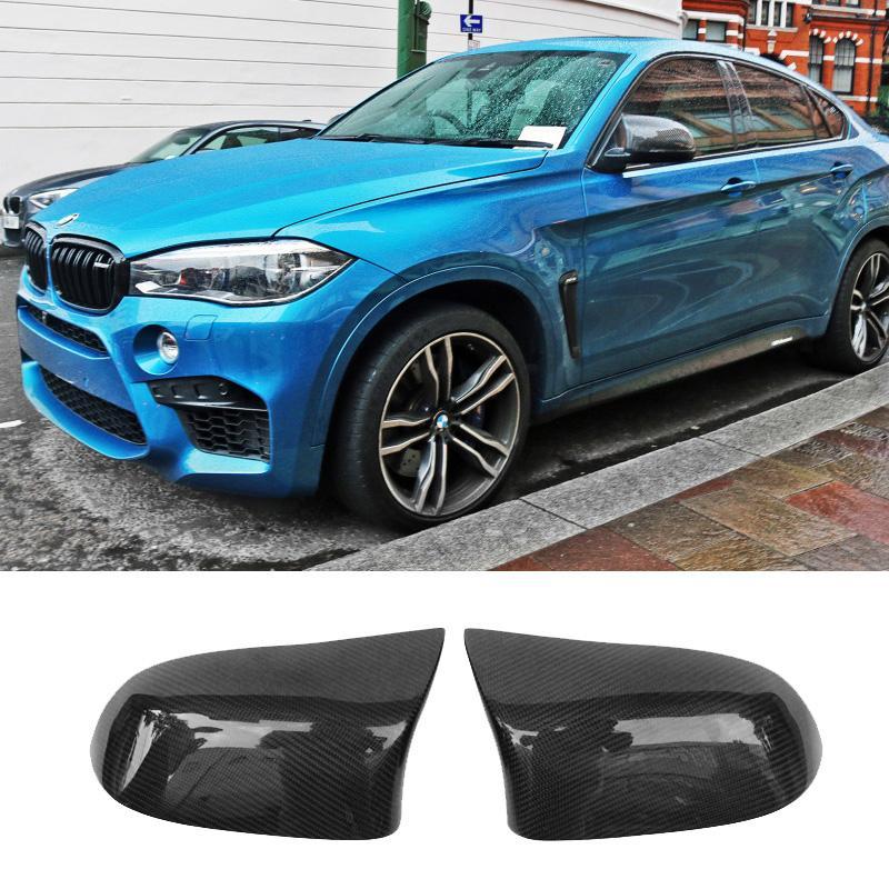 Рог наконечник стиль углеродного волокна зеркало заднего вида охватывает капот, пригодный для BMW X5 X6 F16 F16