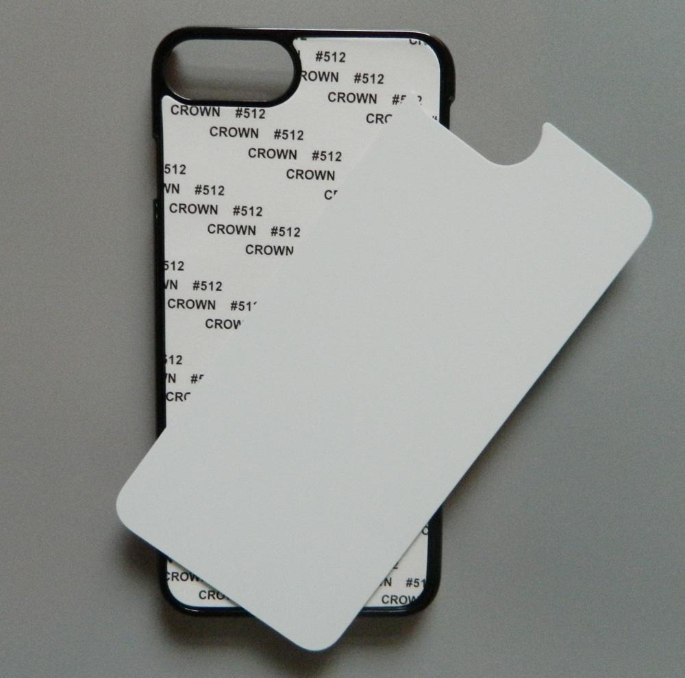 For iphone 7 plus / iphone 8 plus 2d Hard PC sublimation case + blank printable aluminium plate