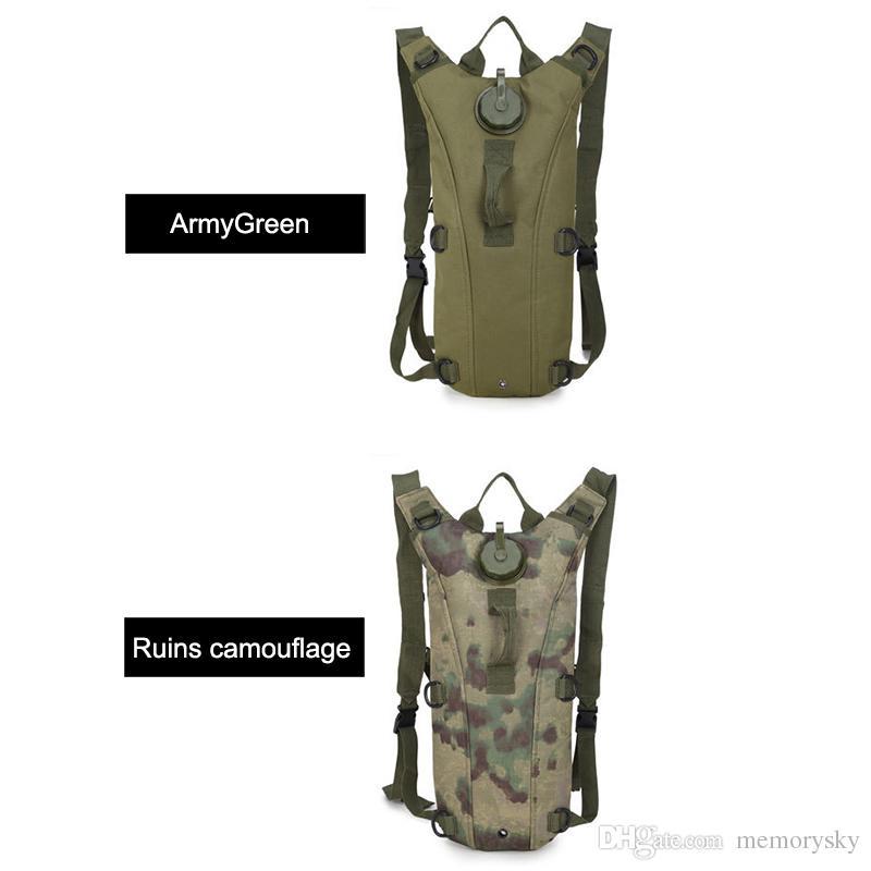 3 л Спорт на открытом воздухе горный туризм рюкзаки тактический гидратации воды сумка восхождение рюкзак сумка с мочевого пузыря 9 цветов