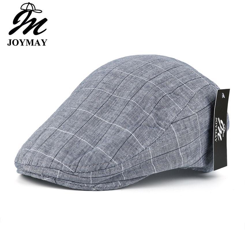 Compre JOMAY Marca Hombres Boinas Gorras Casuales Picos Gorros Strip Beret Sombreros  Hombre Nuevo Primavera Verano Casquette Hat Y023 Envío Gratis A  7.54 ... fc4c620cb76