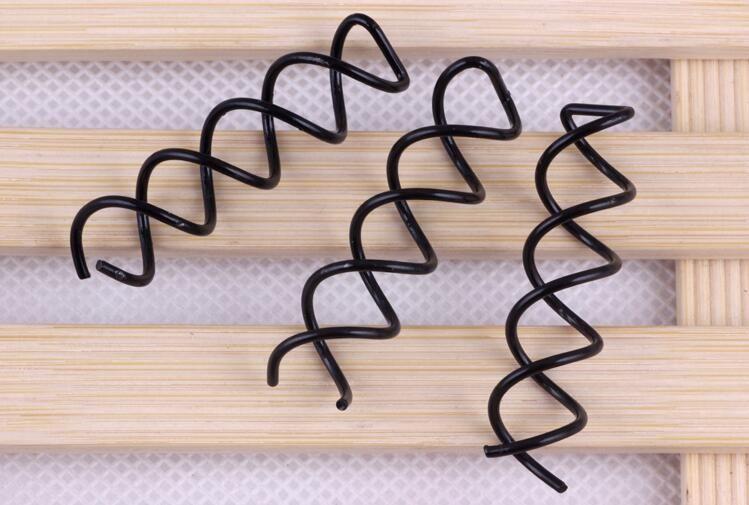 Women Ladies Spiral Spin Screw Bobby Pin Hair Clip Twist Barrette Black Brand New Hair Accessories