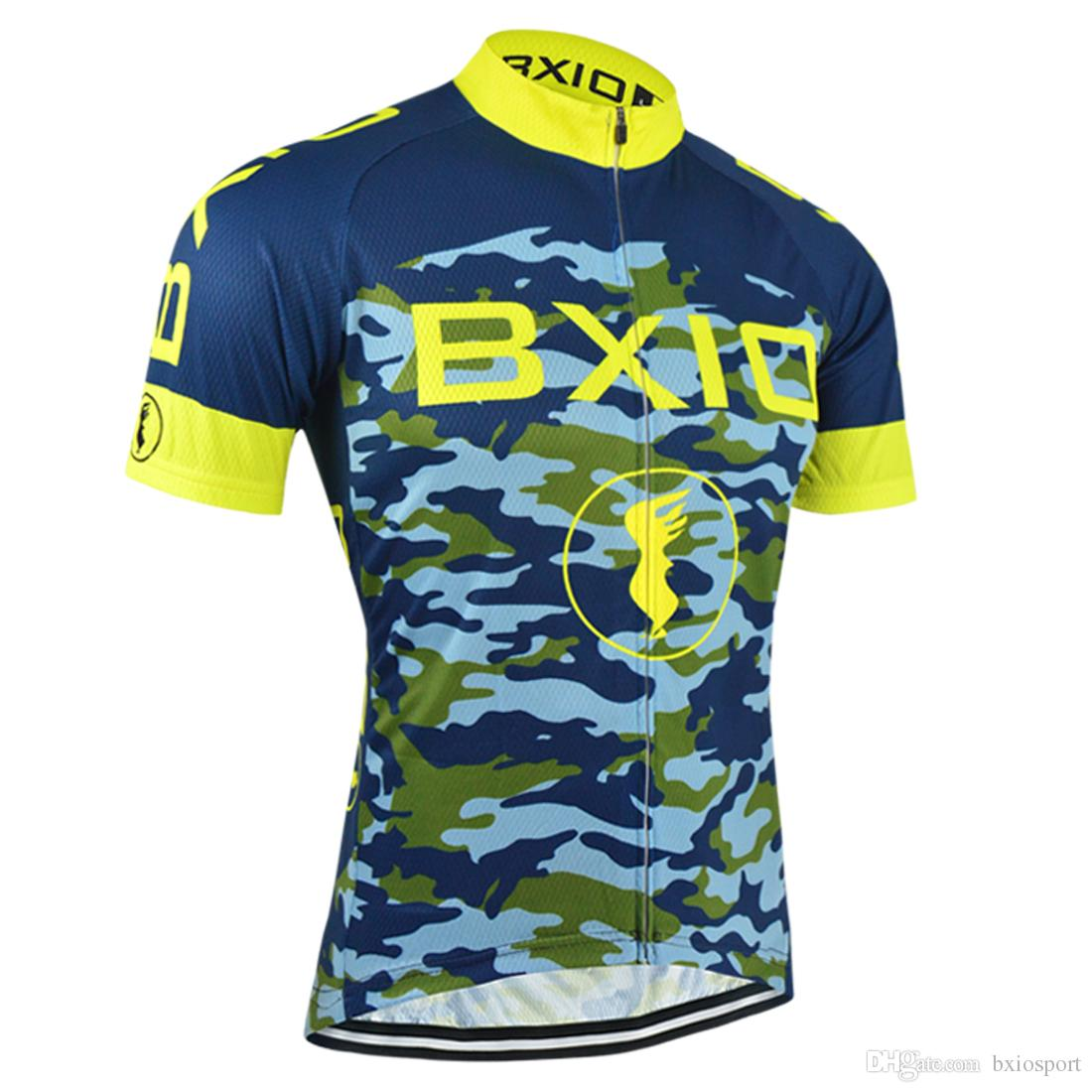 BXIO Cool Men Cycling Shirts Outdoor Sport Bike Jersey 3 Rear Pockets  Camouflage Cycling Jersey Ropa Ciclismo Brand Recommend BX 052 Online Tops  Cool ... 94cee5fd2