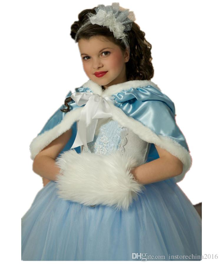 2016 Baby Girls Christmas Santa Claus Fancy Dress frozen else cosplay costume princess clothing with Shawl Hat Outfit Set A111640