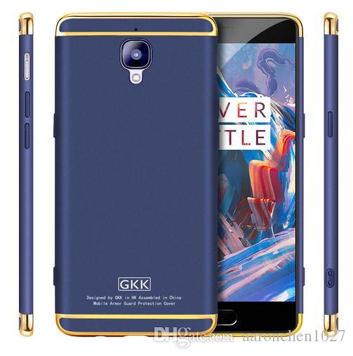 quality design 717f7 c747d GKK Electroplated 3 in 1 Phone Case for OnePlus 3T 3 Case A3000 Three Hard  One Plus 3 Fundas OnePlus3 T Coque Phone Cases Cover