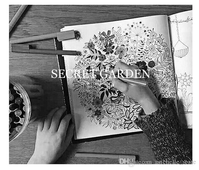Secret Garden Coloring Books Enchanted Forest Magical Dreams