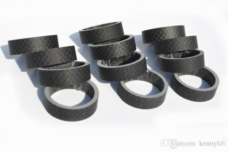 Road bike 3K carbon fibre headset washer Mountain bicycle headset carbon washer stem spacers MTB parts 5/10/15/20mm