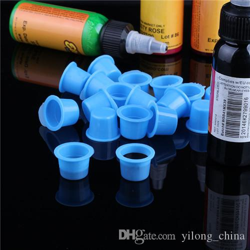 YILONG Tattoo Ink Cup Caps 6.7*9.2mm Pigment Supplies Plastic Self-Standing Ink Cups
