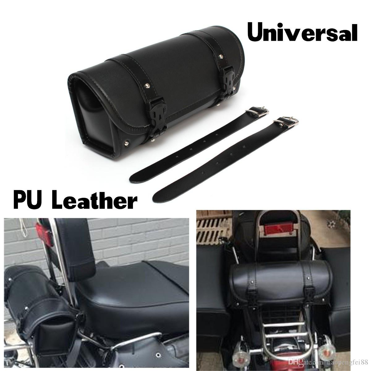 Motorcycle Tool Bag >> Universal Motorcycle Tool Bag Pu Leather Luggage Handle Bar Round Barrel Storage Pouch