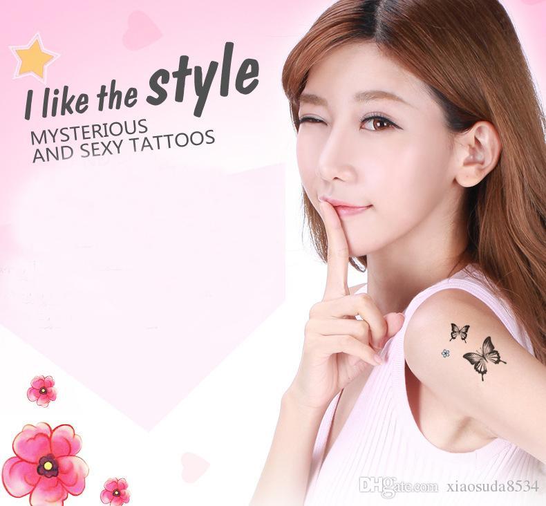 15 Pçs / set Marca Criativo Ferramenta de Beleza Maquiagem Temporária Tatuagens Body Art Etiqueta Do Tatuagem Pasta de Longa Duração 15 Estilos