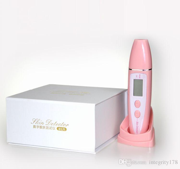 Analizzatore di umidità la pelle Apparecchio la misurazione della qualità della pelle Display LCD la visualizzazione di brevetti di nuova concezione Tester la pelle Bianco rosa 0609011
