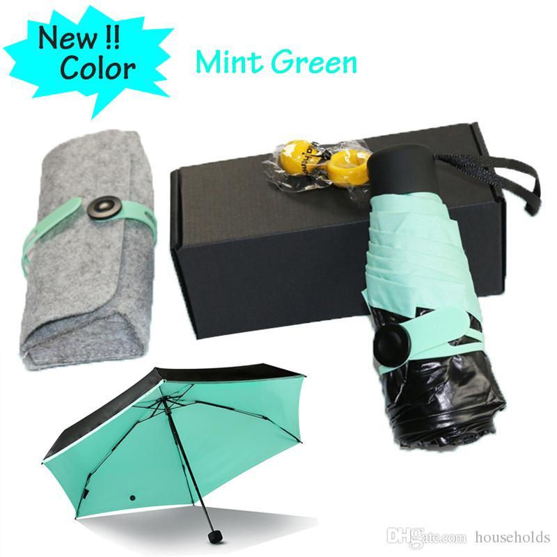 0be8f43d5193 2017 Quality Mini Pocket Umbrella, Women Sunny and Rainy Mini Fashion  Folding Umbrellas 195g small sun Parasol Umbrella rain women