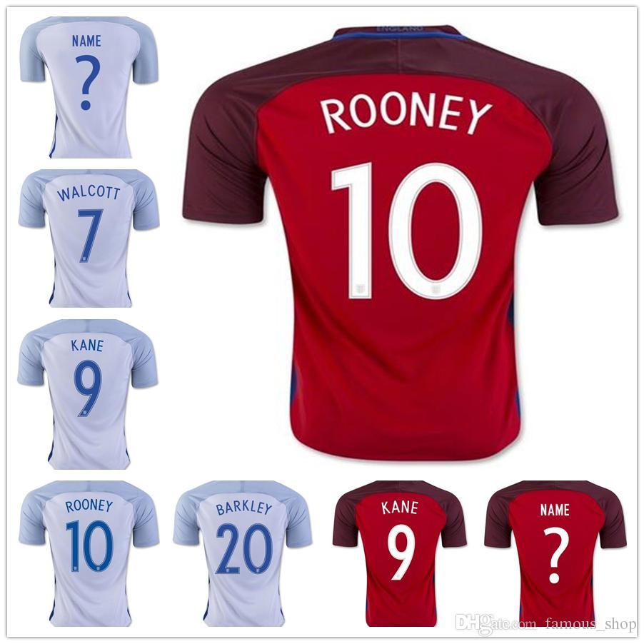 e14a06d69c9f 2019 Cheap Custom Soccer Jersey Wholesale  7 WALCOTT  9 KANE  10 Rooney  11  STERLING VARDY BECKHAM HENDERSON BARKLEY RASHFORD Football Shirts From ...