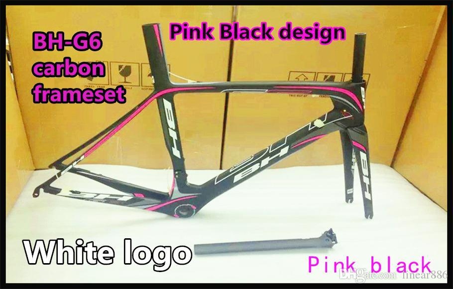 For Women T1000 3k Pink Black Bh G6 Carbon Bike Frames Made In China ...