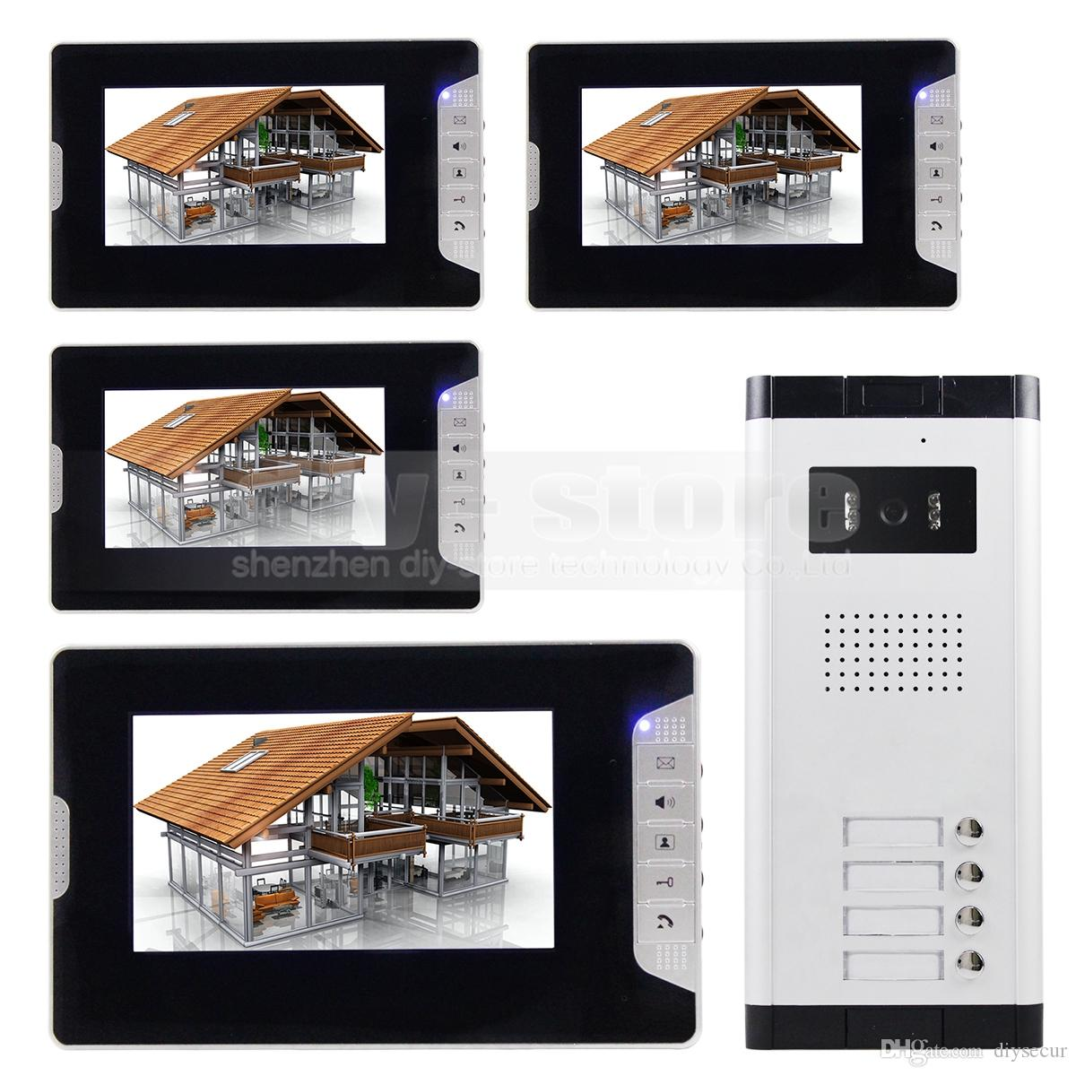 Quality 7 4 Wired Apartment Video Door Phone Audio Visual Intercom ...