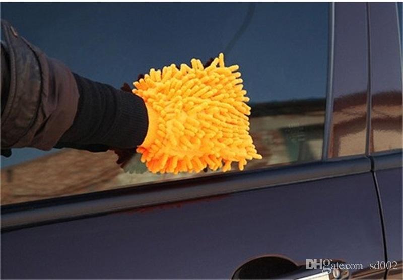 Chenille Gants De Nettoyage En Microfibre Lave-Auto Mitt Nettoyer La Fenêtre Outil Pour Multi Couleurs Haute Qualité 2zk C R