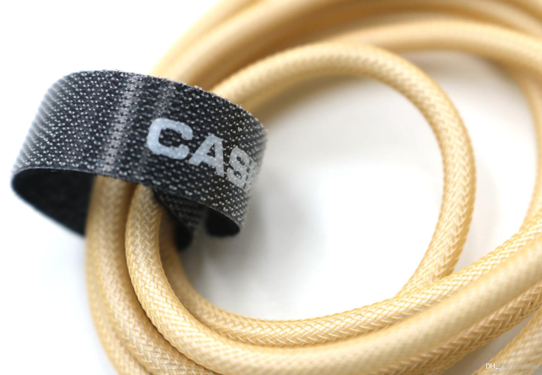 CASIM 1 M Mikro USB Tip C Kablo Şarj Noktası Veri Sync 2A Hızlı Şarj Bahar Metal Balık Net Şarj Şarj Kablosu