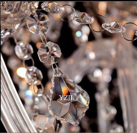 Continental candle chandelier lamp crystal chandelier living room restaurant chandelier crystal lights wedding bar