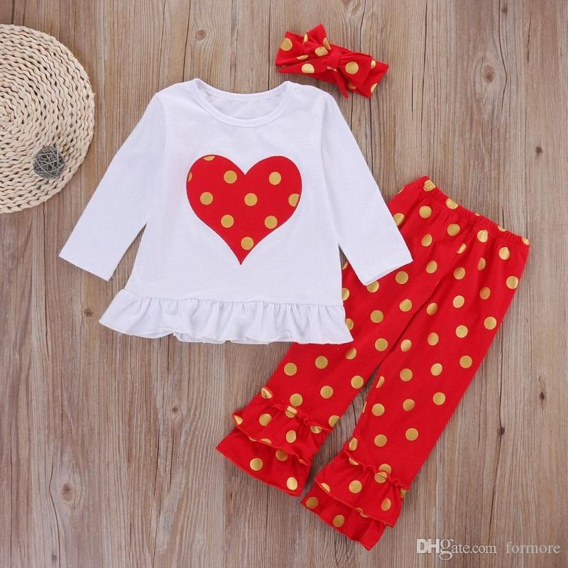 a7d88eb16 Xmas Baby Girl Clothes Kids Boutique Clothing Set Christmas Outfit ...