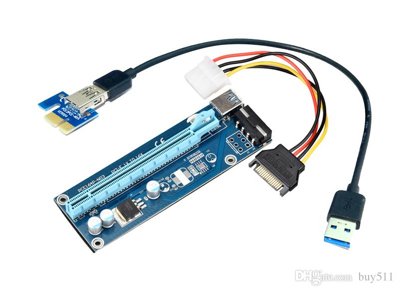 2019 pcie pci e pci express riser card 1x to 16x usb 3 0 data cable