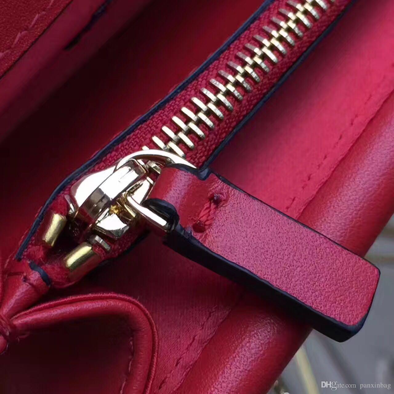 2017 Spring-Summer fahion show vintage metal button genuine leather women's cross body ins bag shoulder bag message bag