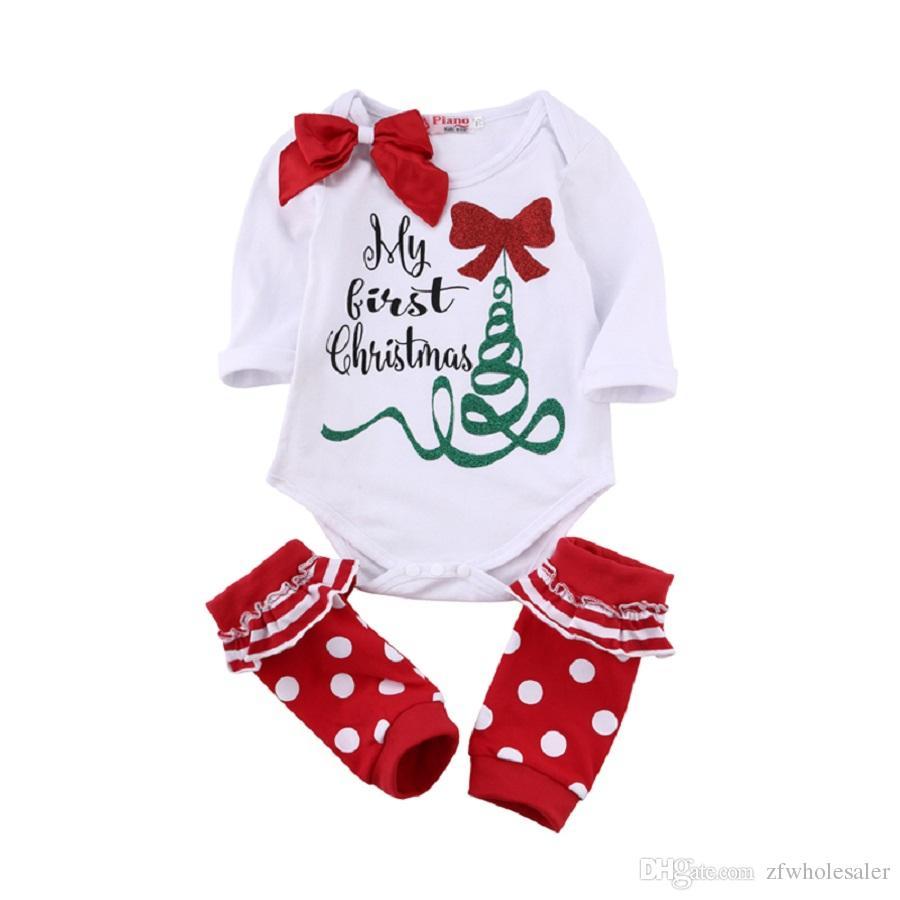 Noël Toddler Rompers Costume Nouveau-Né Bébé Boutique Grils Vêtements Infant Romper Legging Plus Chaud Pyjamas Vêtements De Nuit Justaucorps Nouvel An Combinaison