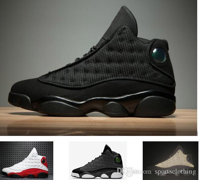 e71df9f60d7 Ship Box Cheap Retro 13 Og Black Cat Basketball Shoes 3m Reflect For Men  Sports Training Sneakers High Quality Blackcat Hot Sale Sneakers Online  Shaq Shoes ...