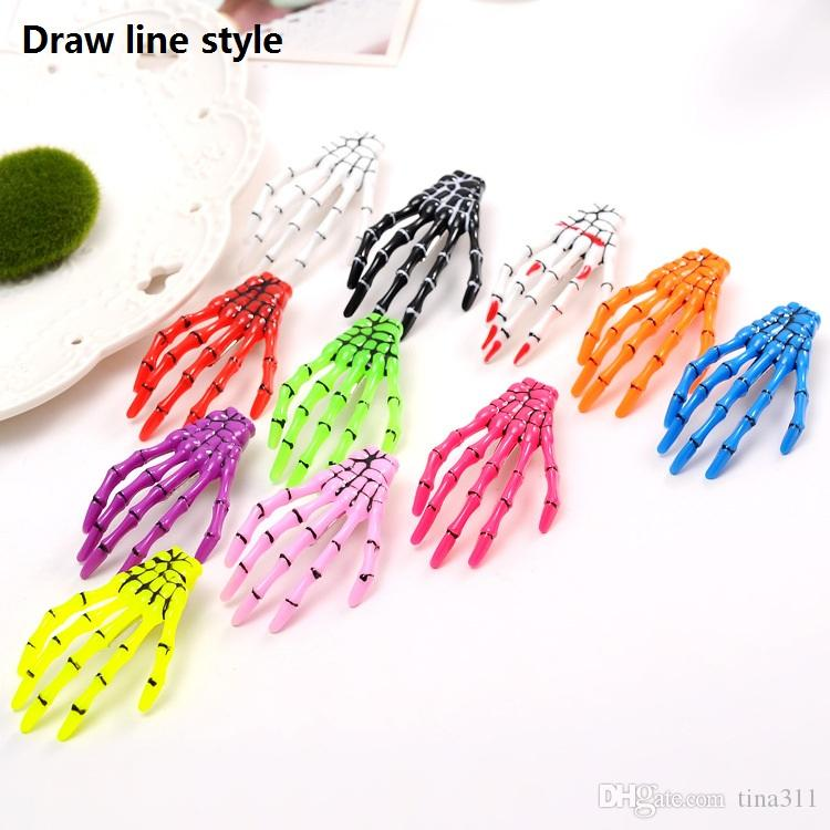 New Halloween decoration barrettes hair for women ghost skeleton of hand Hair Clips personality gripper hairpin CA149