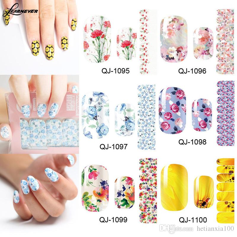 Nail Art Wraps Self Adhesive Stickers Floral Flowers Decals Manicure