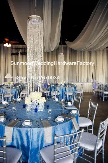 Crystal diamond with mental Flower Vase/tall cylinder acrylic dimond crystal mental vase for wedding stage