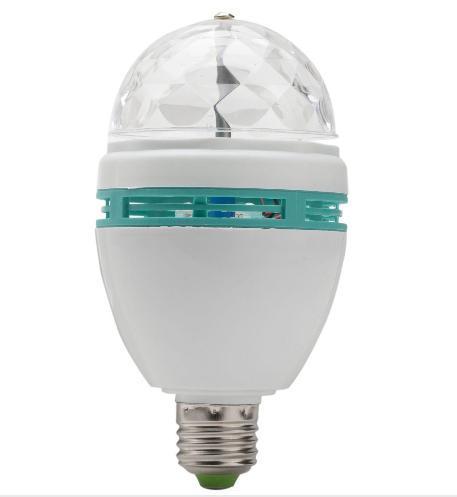 Livraison gratuite 110-265V RGB étape d'éclairage E27 bar ampoule rotatif KTV éclairage effet rotatif famille partie essentielle scène LED eff rotatif