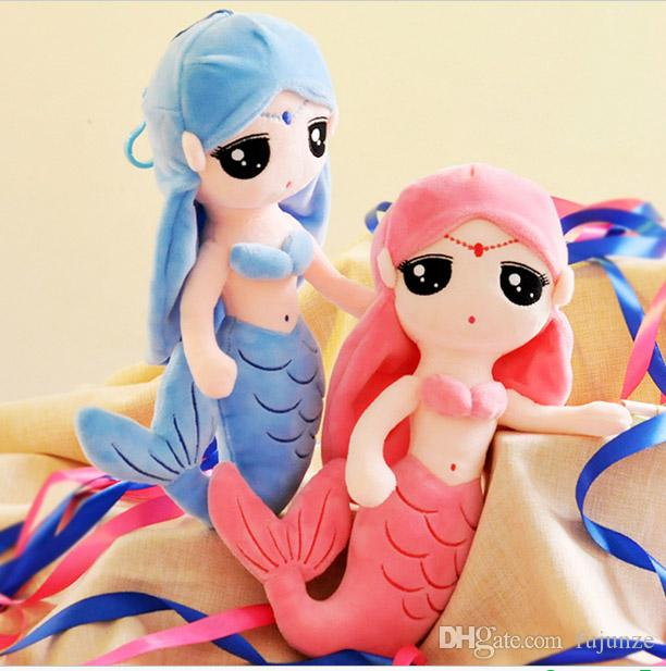 Cute Mermaid Princess Dolls Plush Toys Can Do Wedding Ornaments Throwing Things Or Do Girls Dolls Pillow Doll Gift 037