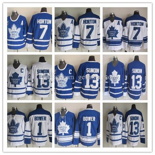 06feaeddf 2019 Cheap Toronto Maple Leafs Men 1 Johnny Bower 7 Tim Horton 13 Mats  Sundin 1967 Retro Vintage Ice Hockey Jerseys Blue White From Gemma_yong, ...