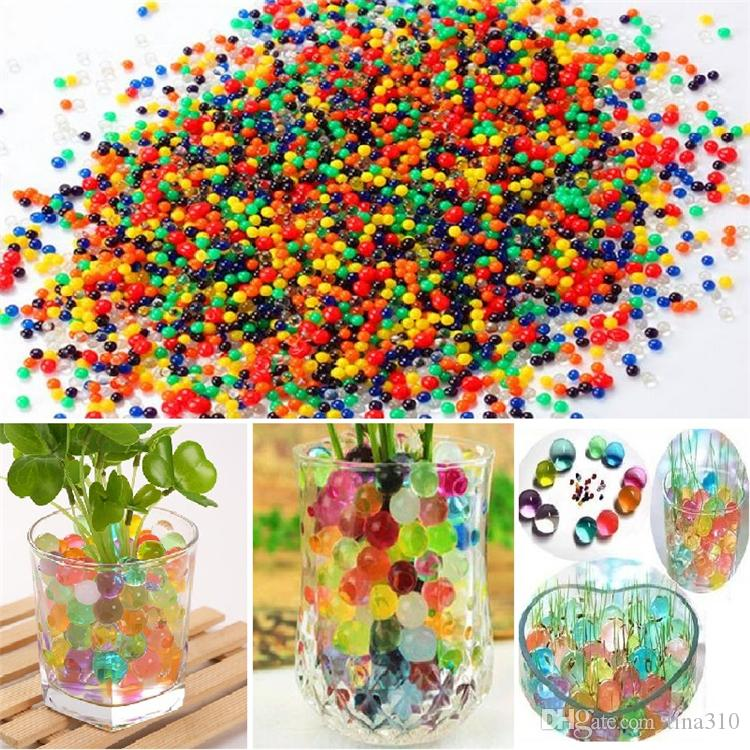 beautiful Pearls Crystal Water beads ball Flower Plant Crystal Soil Gel Jelly Party Wedding Décor magic Jelly Water beads GC65
