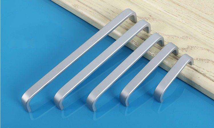 Handle Modern Doorknob Espaço liga de alumínio da porta para móveis Cupboard Cabinet Drawer Pull Knob Liso Feel Good Bar alças simples 1 3yt