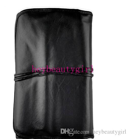 أسود وردي أحمر جودة عالية مجموعة فرش ماكياج المهنية 24 جهاز كمبيوتر شخصى الساحرة الوردي / أسود فرش ظلال مستحضرات التجميل مع الحقيبة الجلدية DHL