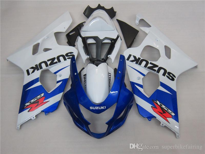 3 geschenk Neue Heiße ABS motorradverkleidung kits 100% Fit Für SUZUKI GSXR 600 750 K4 2004 2005 GSXR600 GSXR750 04 05 R600 R750 Blau Weiß