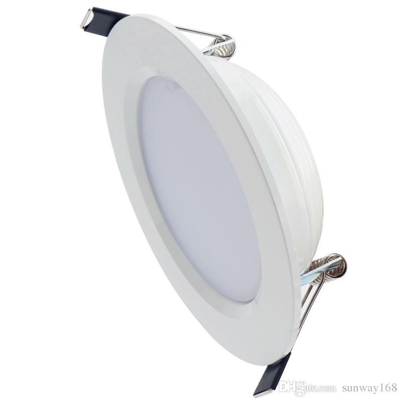 Livraison gratuite RVB conduit vers le bas des lumières 3W 5W 10W a mené l'éclairage de panneau Downlight AC110 / 220V Intérieur a mené les lumières enfoncées