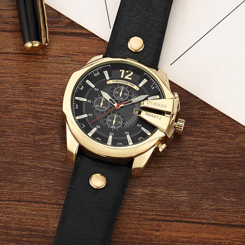 1c46f4ea0be Compre Curren 8176 Homens Atacado Relógios Top De Luxo Popular Marca Homem  Relógio De Quartzo De Ouro Relógios Homens Relógio De Pulso De Quartzo De  ...