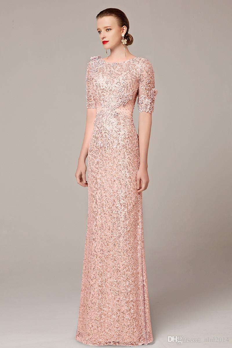 d619a8c9ec10 Coniefox Newest Long Formal Half Sleeve Sequins Elegant Plus Size Party  Vestidos Longo Evening Dress Gown Custom Made Evening Dresses Size 18  Evening ...