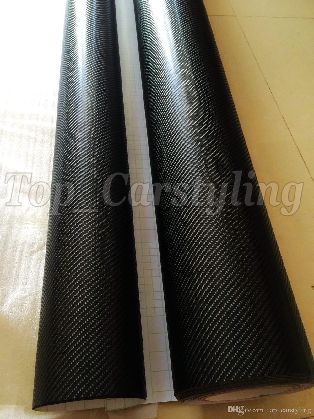 블랙 4D 탄소 섬유 VINYL WRAP 공기 버블 무료 차량용 자전거 / 에어 릴리스 자동차 / 보트 / 테이블 커버링 1.52x30m / 롤 5x98ft