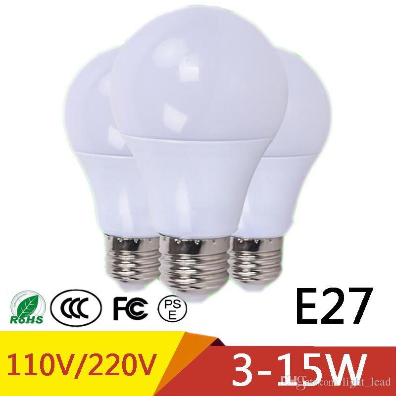Lampade E27 A Led.New E27 Led Lamp Lights 3w 5w 7w 9w 12w 15w Lampade Led Led Bulb For Motor Home Marine Outdoor Lighting 110v