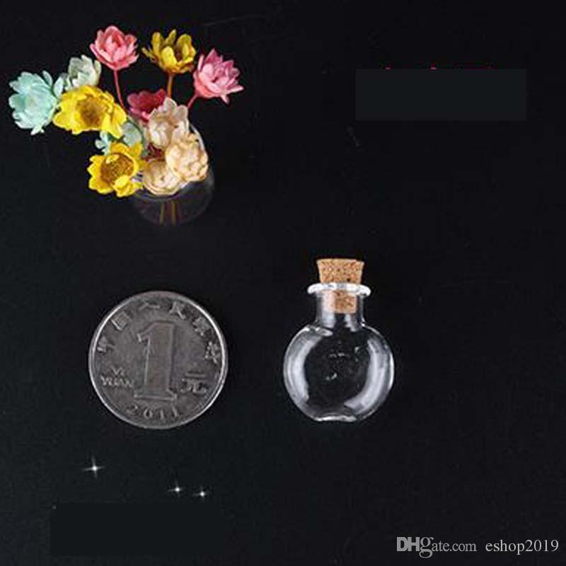 Vente en gros - Mini bouteilles en verre de liège en bois avec corde Arts Jars Bracelets Cadeaux Pendentifs Dérive Bouteille Parfum Sable Flacons Formes Mixtes