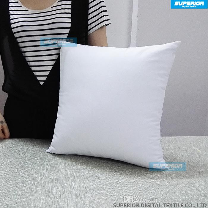 Plain White Natural Color Pure Cotton Twill Pillow Cover With Custom Diy Body Pillow Cover
