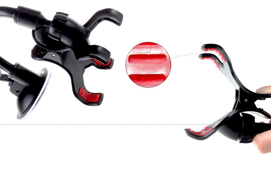 Vitog для iPhone 6/6S с двойной клип автомобильный держатель, легкий в использовании универсальный длинная рука/шеи 360°вращение лобовое стекло телефона Держатель -розничная упаковка
